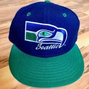90s Seattle Seahawks Fitted 6 Panel Baseball Hat